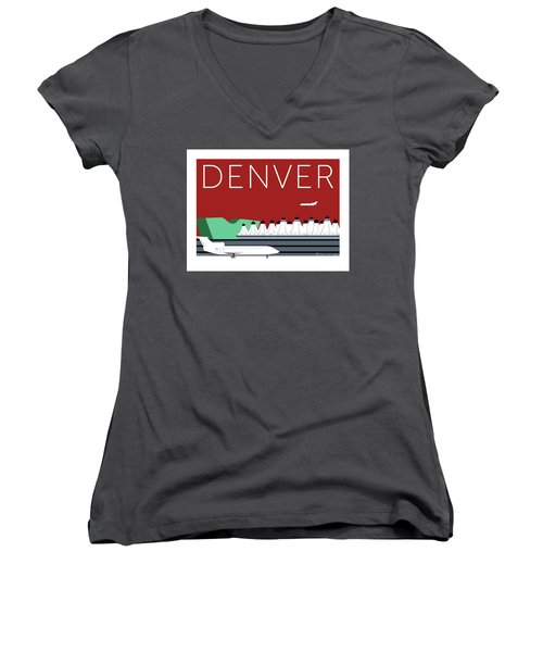 Denver Dia/maroon Women's V-Neck (Athletic Fit)