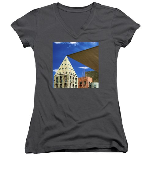 Denver Urban Geometry Women's V-Neck (Athletic Fit)
