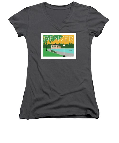 Denver Washington Park/gold Women's V-Neck (Athletic Fit)