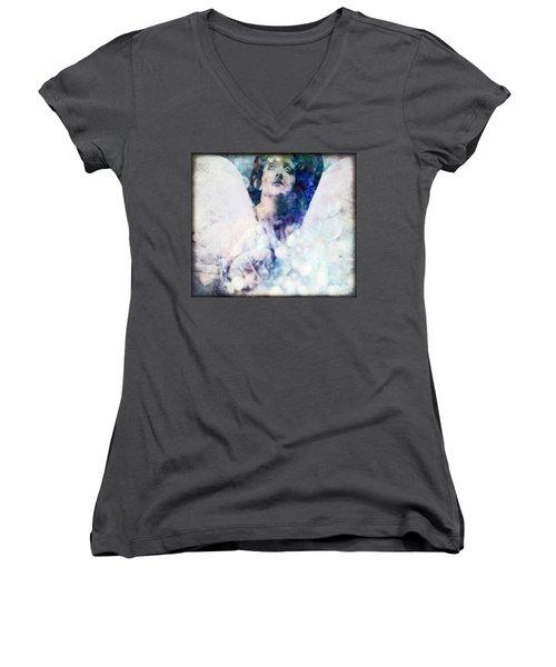Depression Angel Women's V-Neck T-Shirt