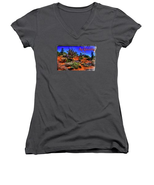 Desert And Mountains Women's V-Neck T-Shirt