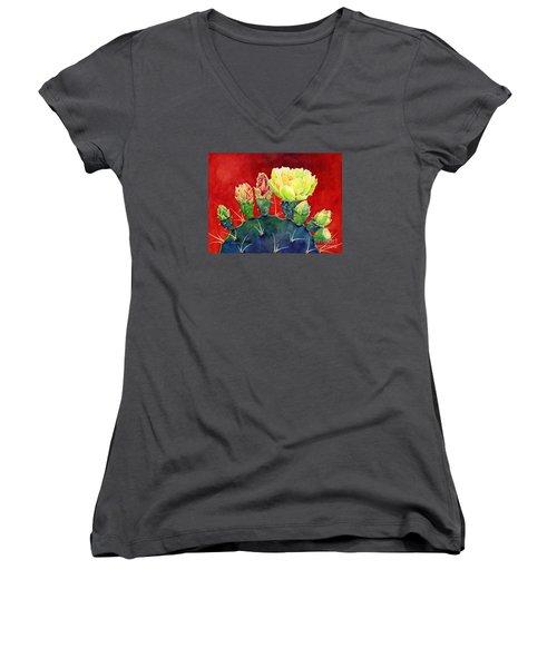 Desert Bloom 3 Women's V-Neck