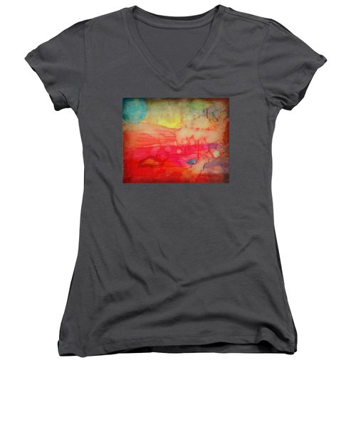 Desert Burn Women's V-Neck T-Shirt