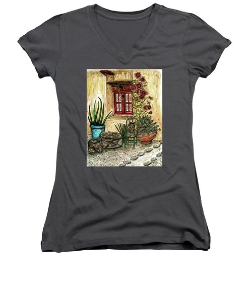 Desert Garden Women's V-Neck