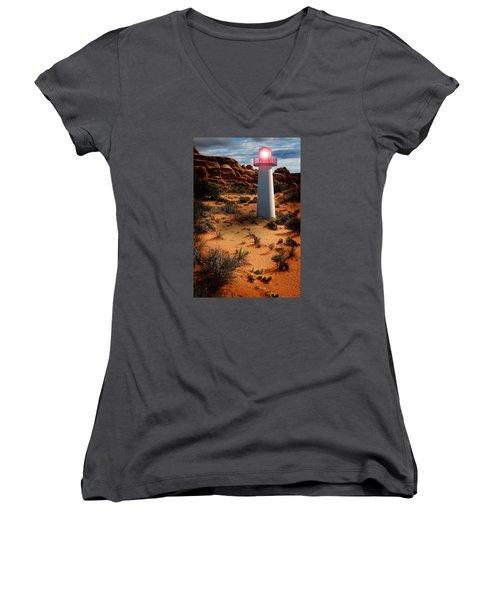Desert Lighthouse Women's V-Neck