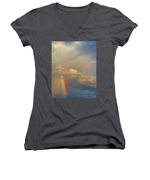 Desert Rainbow Women's V-Neck T-Shirt