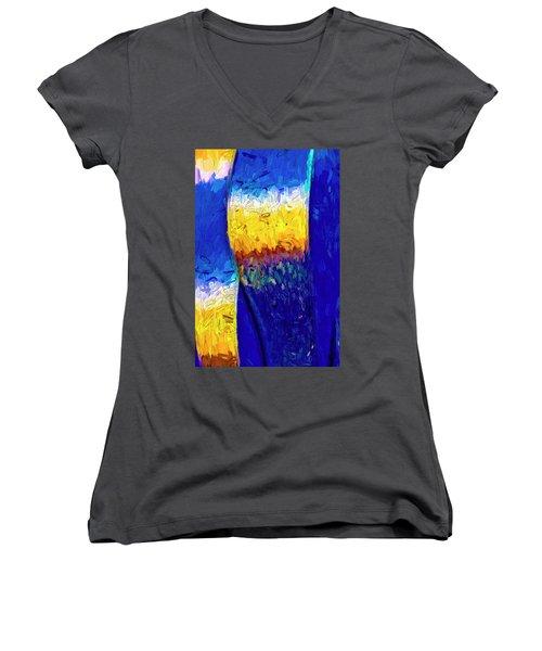 Desert Sky 1 Women's V-Neck T-Shirt (Junior Cut) by Paul Wear