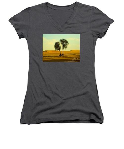 Desert Trees Women's V-Neck