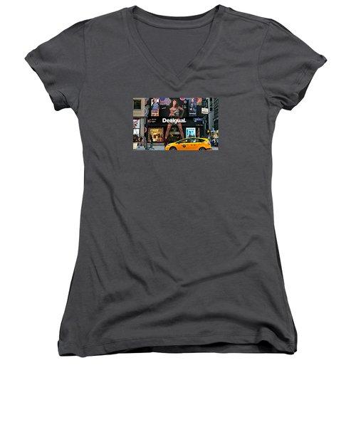 Desigual Women's V-Neck T-Shirt (Junior Cut) by Diana Angstadt