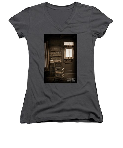 Desk And Chair Women's V-Neck (Athletic Fit)