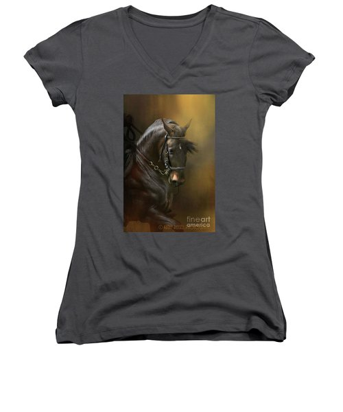 Desparate' In Gold Women's V-Neck (Athletic Fit)