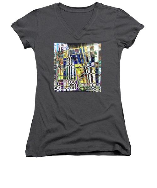 Desperate Reflections Women's V-Neck T-Shirt (Junior Cut) by Seth Weaver