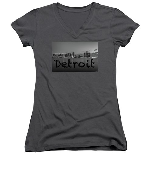 Detroit City  Women's V-Neck (Athletic Fit)