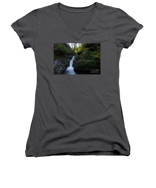 Devil's Bathtub In The Morning Women's V-Neck T-Shirt