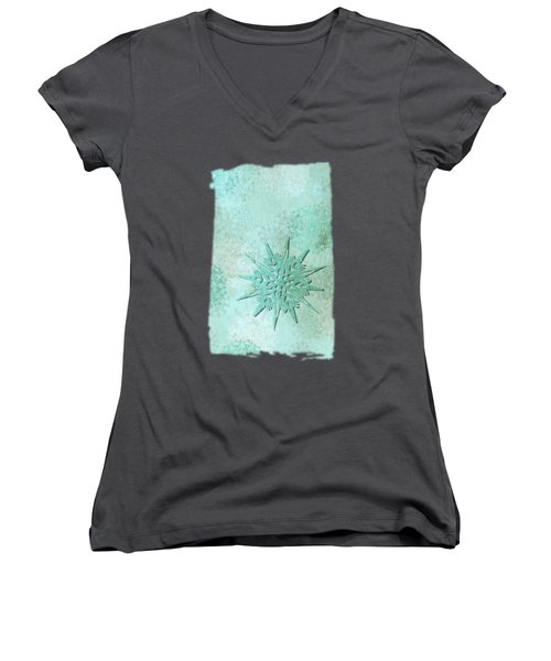 Diamond Dust Women's V-Neck T-Shirt (Junior Cut) by AugenWerk Susann Serfezi