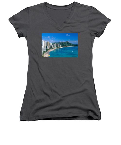 Diamond Head And Waikiki Women's V-Neck (Athletic Fit)