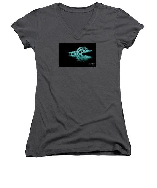 Diamond Head Women's V-Neck T-Shirt (Junior Cut) by Elaine Hunter