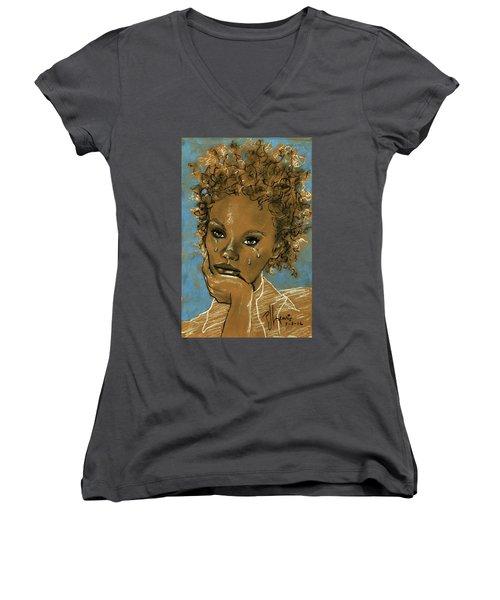 Diamond's Daughter Women's V-Neck T-Shirt (Junior Cut)