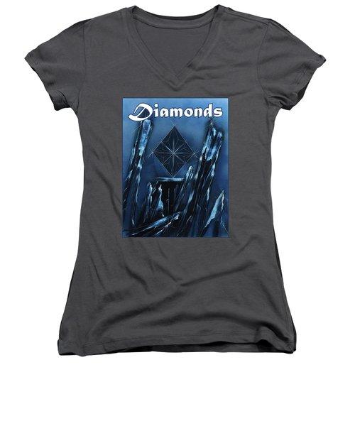 Diamonds Suit Women's V-Neck