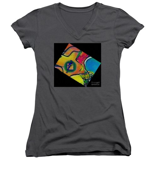 Women's V-Neck T-Shirt (Junior Cut) featuring the photograph Try...all  And Error by Kathie Chicoine
