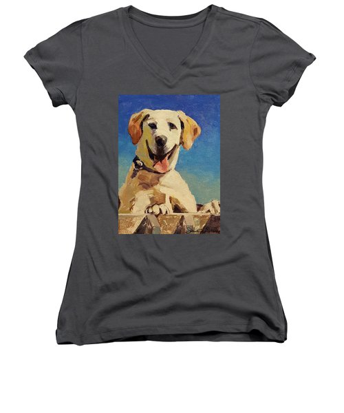 Did Someone Say Treat? Women's V-Neck (Athletic Fit)