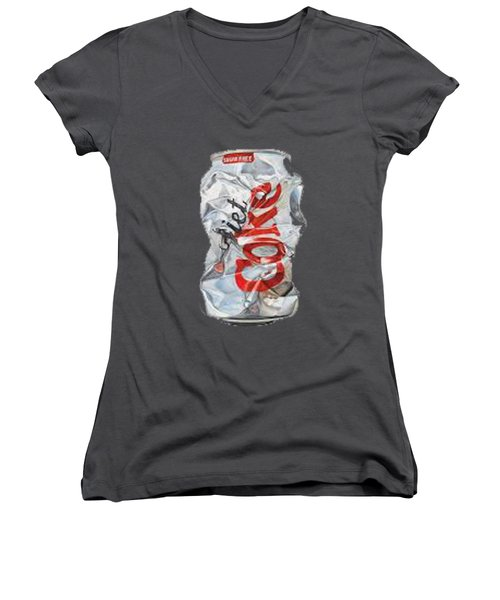 Diet Coke T-shirt Women's V-Neck (Athletic Fit)