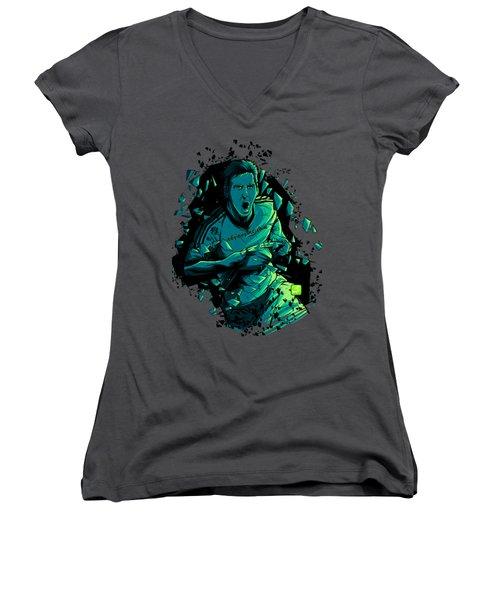Dieu Women's V-Neck T-Shirt (Junior Cut)