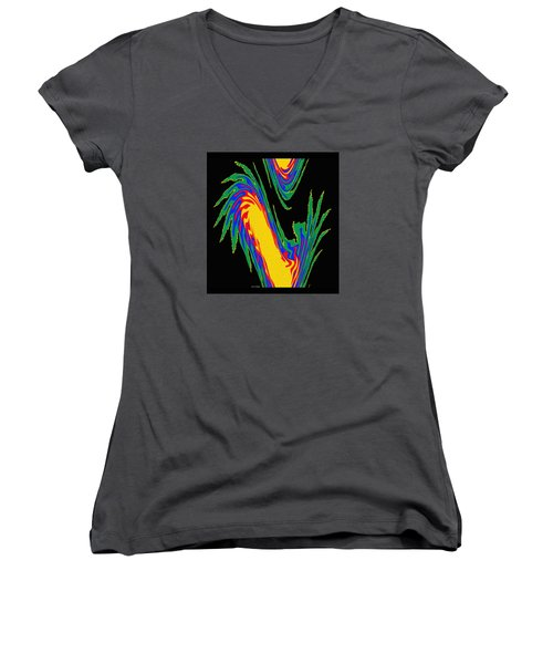 Digital Art 10 Women's V-Neck T-Shirt (Junior Cut) by Suhas Tavkar