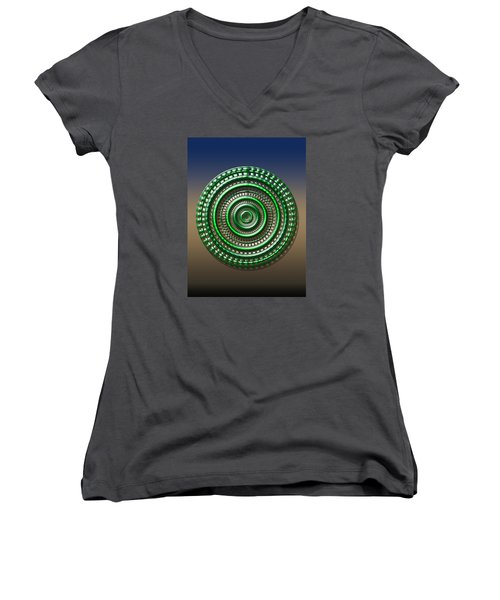 Digital Art Dial 3 Women's V-Neck