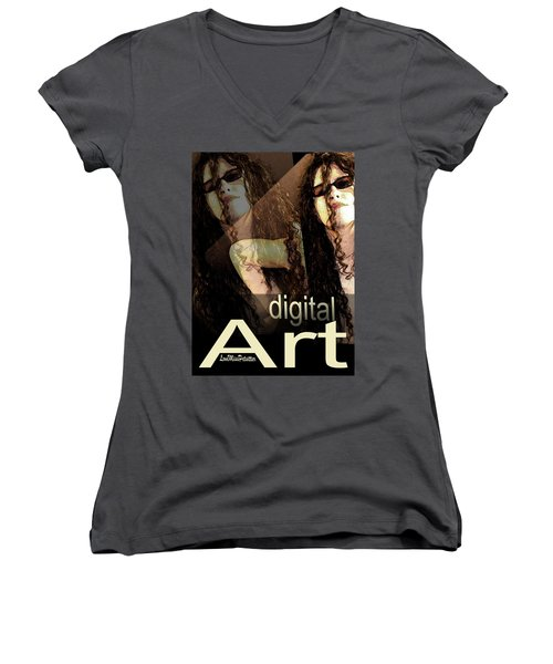 Digital Art Poster Women's V-Neck