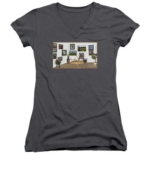 Digital Exhibition _ Relaxation In The Afterlife Women's V-Neck (Athletic Fit)