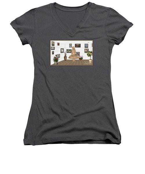 digital exhibition _ Sculpture 10 of girl  Women's V-Neck T-Shirt