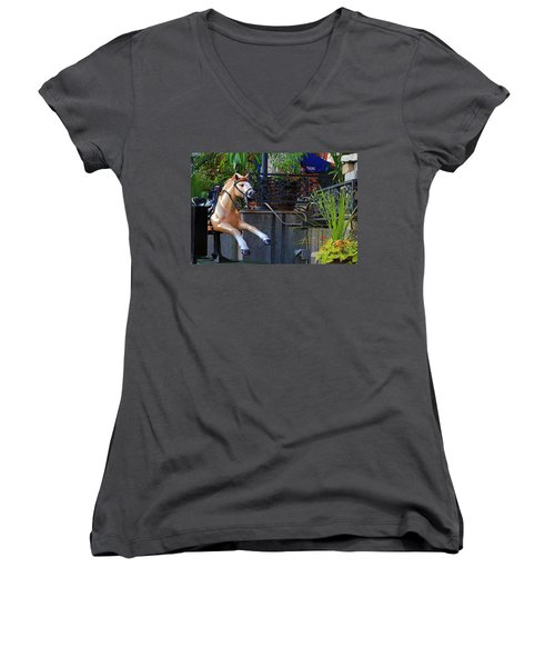 Dime Pony Women's V-Neck