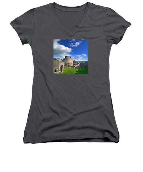 Dinefwr Castle 1 Women's V-Neck