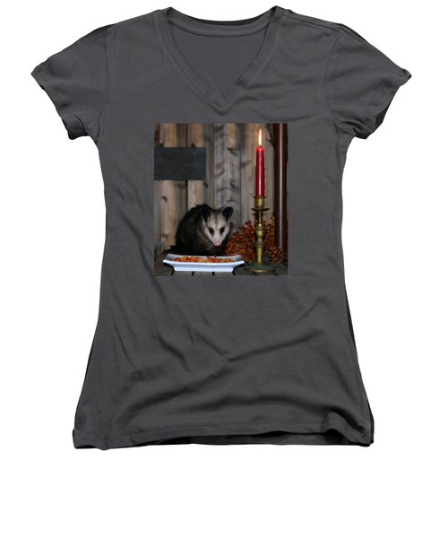 Dining Possums II Women's V-Neck (Athletic Fit)