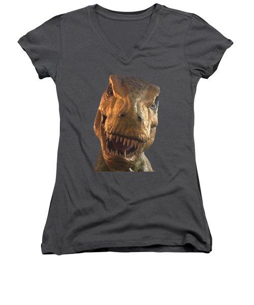 Dino Hello Women's V-Neck T-Shirt