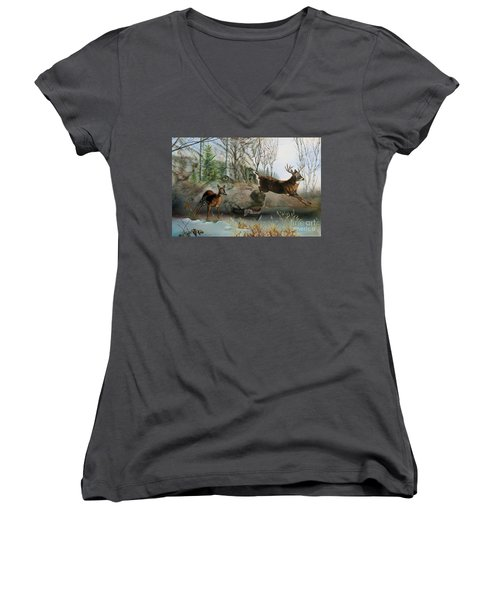 Disappearing Predator Women's V-Neck T-Shirt