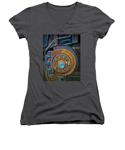 Disc Brake Assembly Women's V-Neck T-Shirt