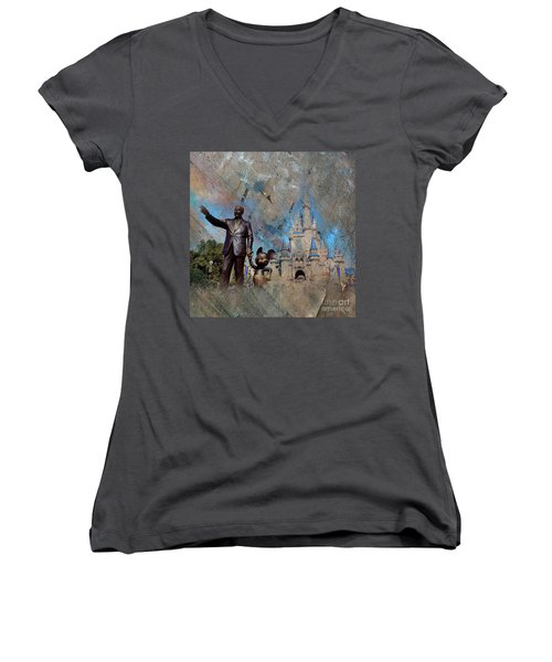 Disney World Women's V-Neck (Athletic Fit)