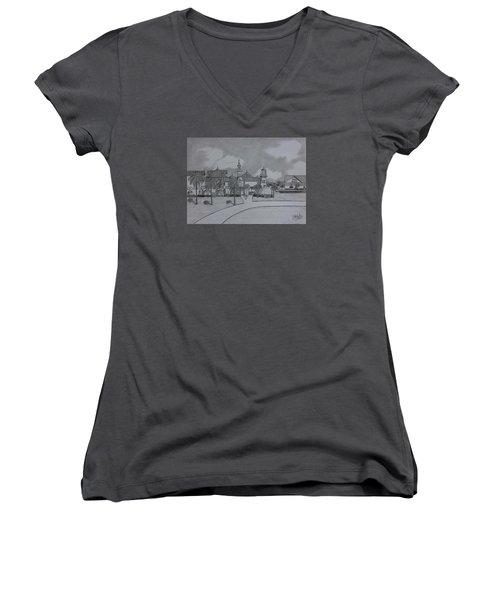 Disney's  Caribbean Beach  Women's V-Neck T-Shirt