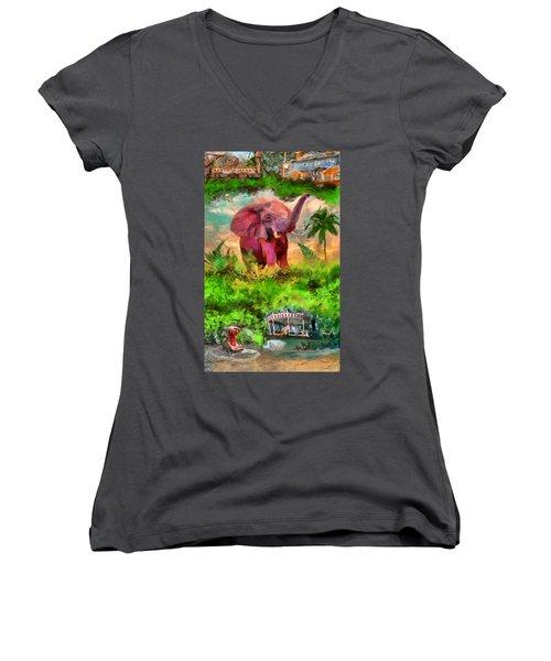 Disney's Jungle Cruise Women's V-Neck (Athletic Fit)