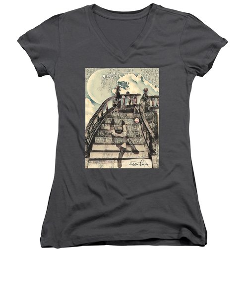 Dissociated Mother Women's V-Neck (Athletic Fit)