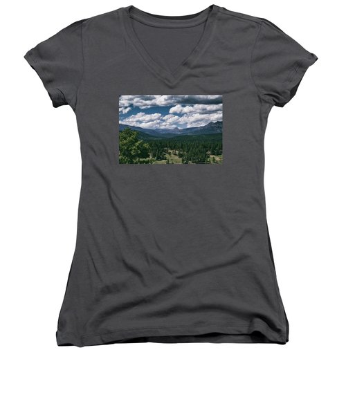 Distant Windows Women's V-Neck T-Shirt (Junior Cut) by Jason Coward