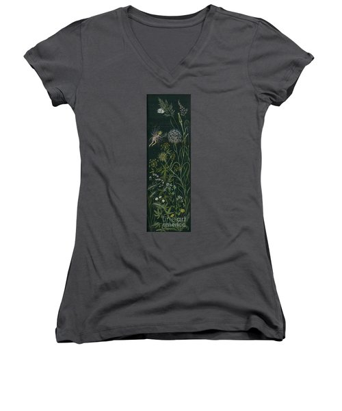 Ditchweed Fairy Grasses Women's V-Neck T-Shirt