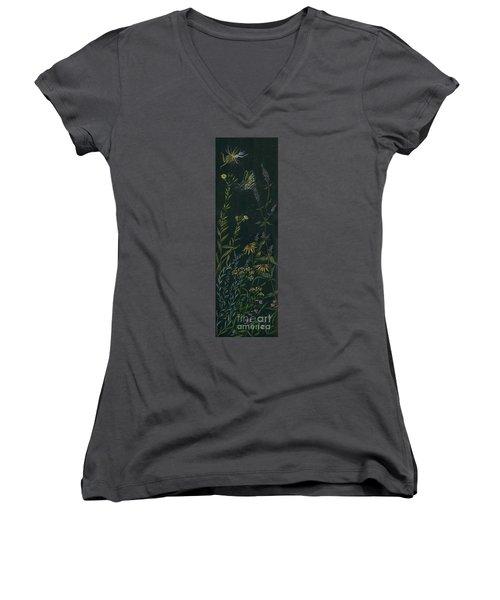 Ditchweed Fairy Tiger Swallowtail Women's V-Neck T-Shirt (Junior Cut) by Dawn Fairies