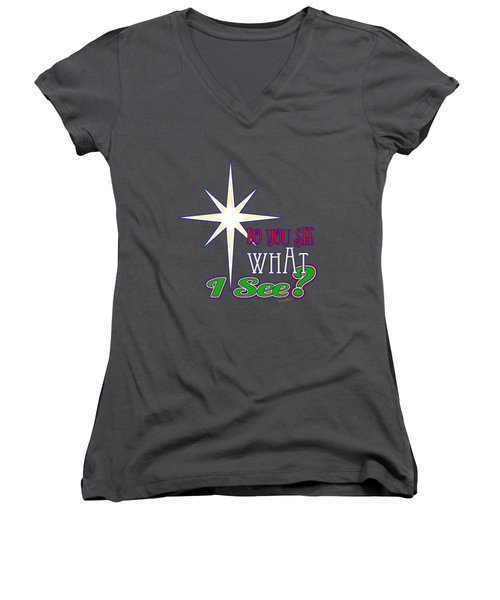 Do You See What I See? Women's V-Neck (Athletic Fit)