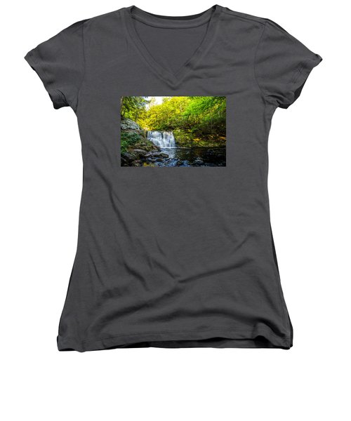 Doans Falls Lower Falls Women's V-Neck (Athletic Fit)
