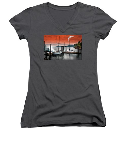 Dock And The Moon Women's V-Neck
