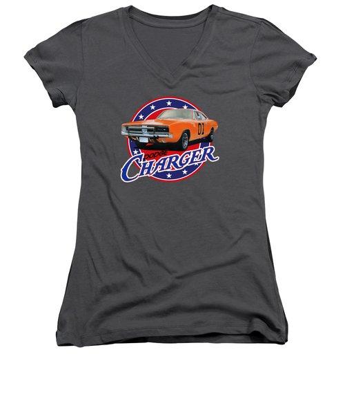 Dodge Charger Women's V-Neck (Athletic Fit)