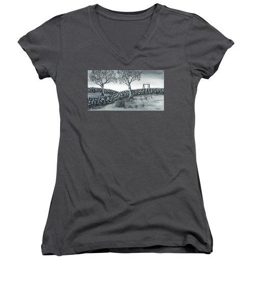 Dog House Women's V-Neck T-Shirt (Junior Cut) by Kenneth Clarke